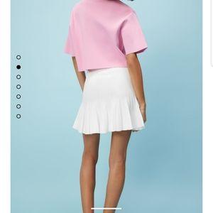 Zara M White Pleated Tennis Skirt Blogger Fav